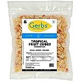 Gerbs Dried Tropical Fruit Mix, 2 LBS. - Unsulfured -Top 14 Food Allergy Free & NON GMO - Diced Mango, Pineapple, Papaya Sweetened
