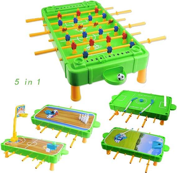 BXWQPP Creativo Futbolín Juego de Mesa Baby Foot Infantil para ...