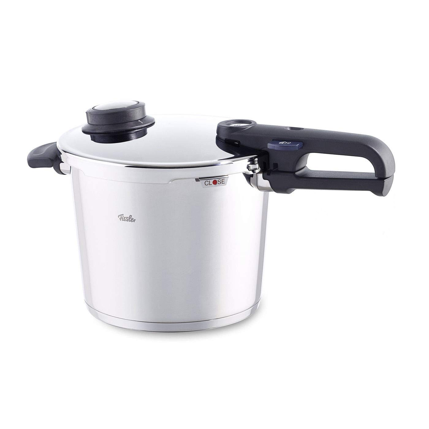Fissler Vitavit Premium Stainless Steel 6.4 Quart Pressure Cooker with Steamer Insert