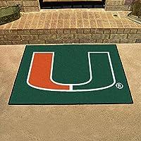 Fan Mats 4459 UM - University of Miami Hurricanes 33.75 x 42.5 All-Star Series Area Rug / Mat
