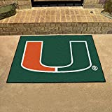 Fan Mats 4459 UM - University of Miami Hurricanes 33.75'' x 42.5'' All-Star Series Area Rug / Mat