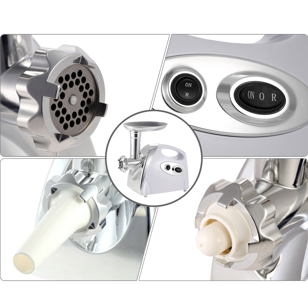 Anself 300W Electric Meat Grinder Aluminium Alloy Household or Commercial Sausage Maker 100-120V H16735W-US