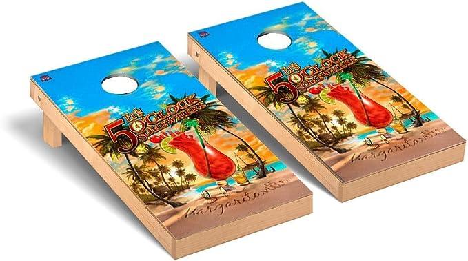 MARGARITAVILLE CORNHOLE BEANBAG TOSS GAME w Bags Game Boards Tropical Buffet 957
