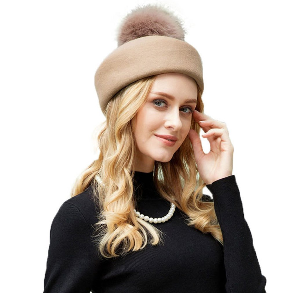 Krastal Womens Fascinators Winter Wool Felt Fedora Elegant Pillbox Hat  Vintage Cap at Amazon Women s Clothing store  b7b04c46cee