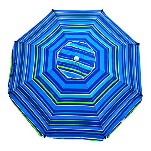Shadezilla 7 ft Platinum Heavy Duty Beach Umbrella with Rein