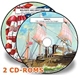 600+ Holidays and Topics Vintage Royalty Free Ultra High Resolution Art Images - 2 CD's Bundle