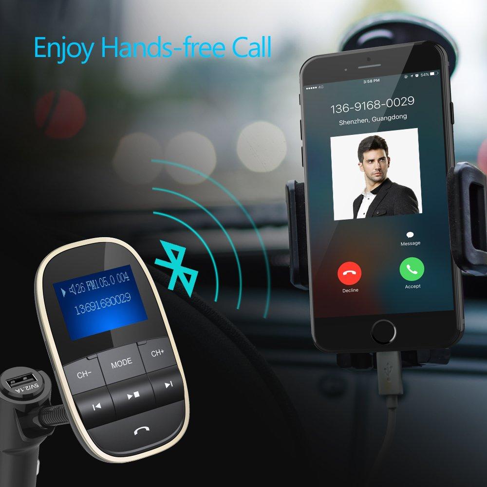 Transmetteur FM Bluetooth Voiture kit Main Libre