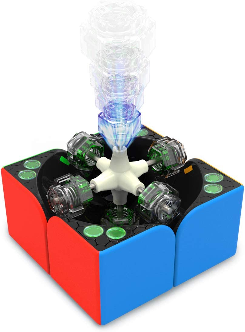 Stickerless 2x2 Magnetic Speed Cube Gans 251 M Mini Cube with Extra GES GAN 251M