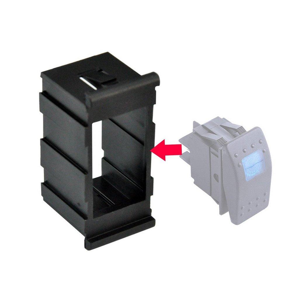 Mintice 5 X Interrupteur Commutateur /à Bascule LED Jaune 4 Pin pour Voiture Marine Moto support de logement