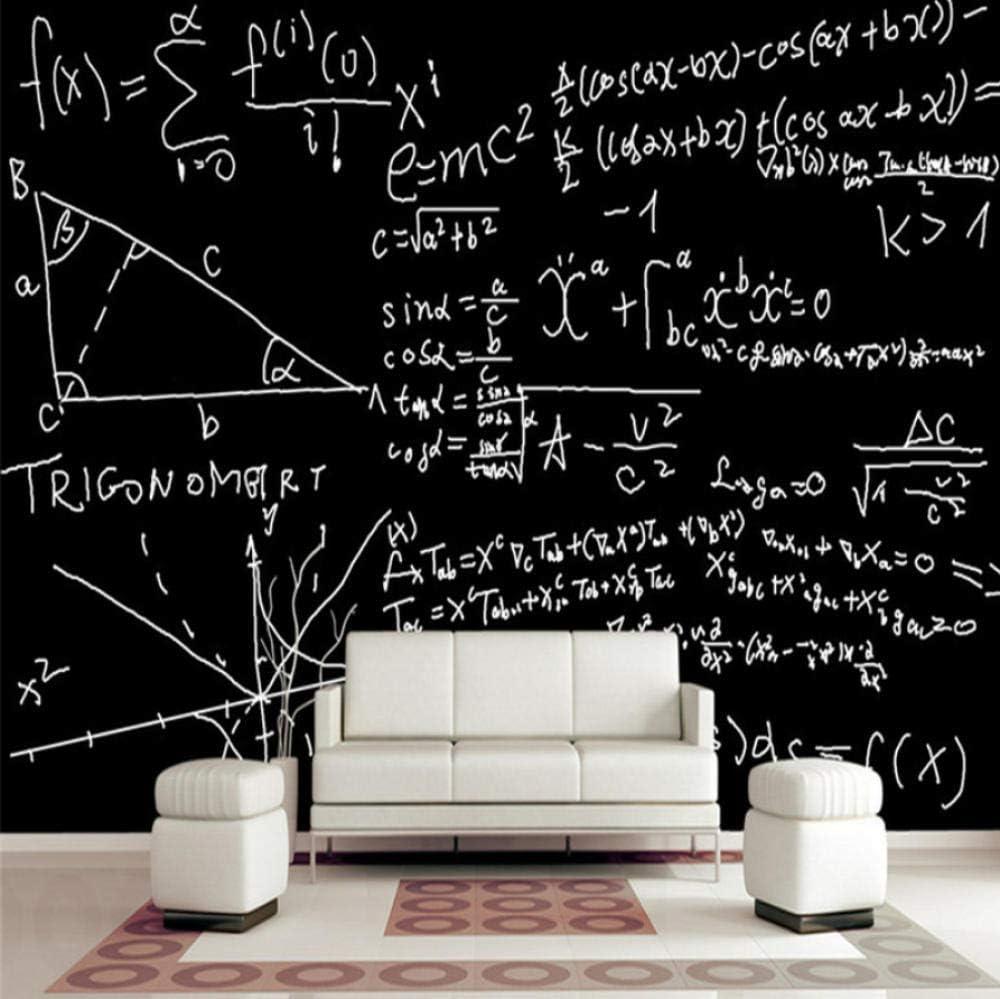 Amazon Sfrgrvdfg カスタム壁紙ロールレトロウォールペーパーホームインテリアノスタルジックウォールペーパー数学数式 リビングルームテレビウォール壁紙 1x100cm 壁紙