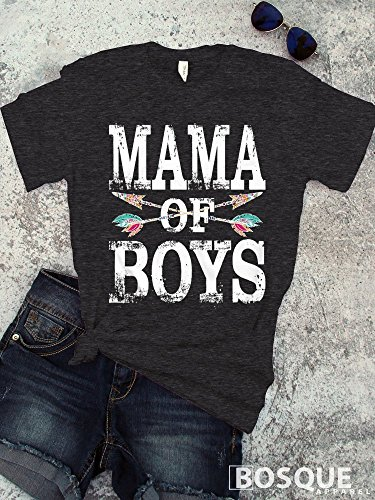 Colorful Mama of Boys T-Shirt / Unisex Shirt Distressed desi