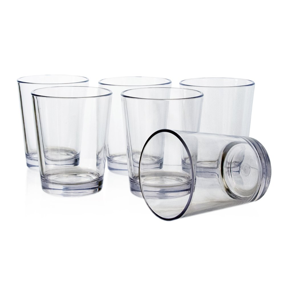 Bistro 15-ounce Premium Quality Clear Plastic Tumblers | set of 6 US Acrylic 0397