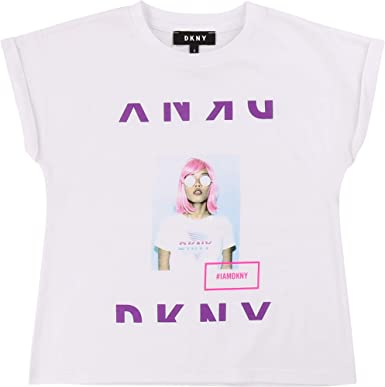 DKNY Camiseta algodón con Estampado Joven: Amazon.es: Ropa y ...