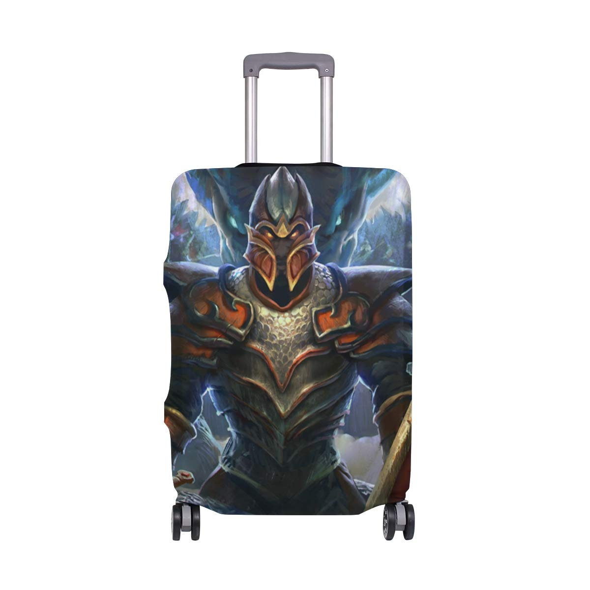 Dragon Knight Dota Travel Luggage Cover Suitcase Protector Fits 26-28 Inch Washable Baggage Covers