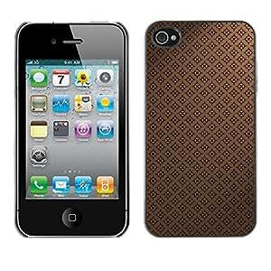 Be Good Phone Accessory // Dura Cáscara cubierta Protectora Caso Carcasa Funda de Protección para Apple Iphone 4 / 4S // Pattern Wallpaper Brown Coffee Classic