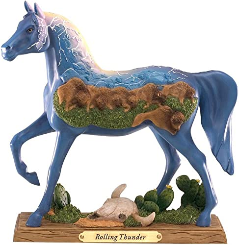 Enesco Trail of Painted Ponies Rolling Thunder Pony Figurine 7-Inch