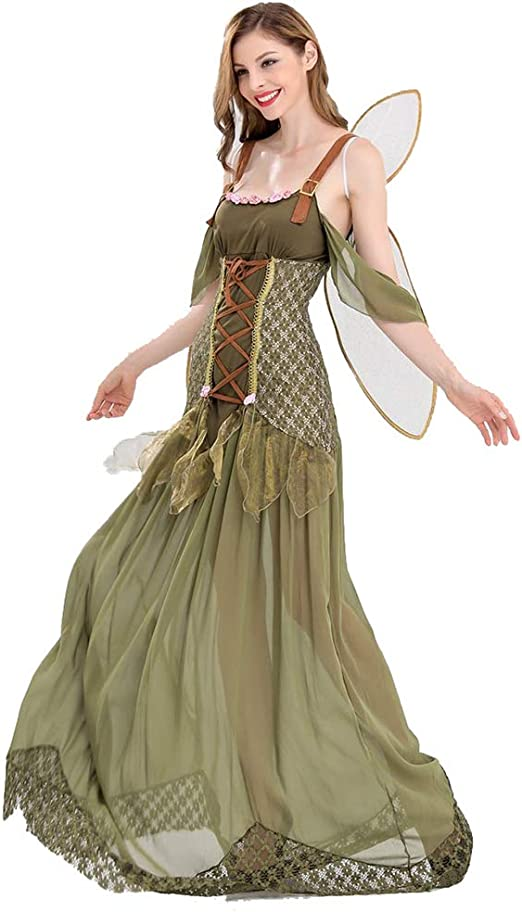 NFY Sexy Elfo De Bosque Vestido Lindo Halloween Mujer Miedo Traje ...
