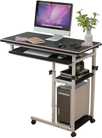 KEOA Mesa Auxiliar con Ruedas Mesa de computadora de Altura ...