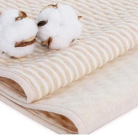 4 Capas Proteccion de Colchon Impermeable Respirable Algodón Bambú Protector Cama Infantil Adulto (50 *