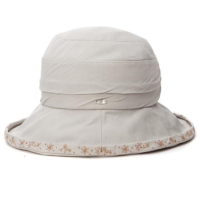 7a6a0df9c71fec SIGGI Womens UPF50+ Packable Bucket Boonie Sun Hats Fishing Hiking Sunhat  w/Chin Cord Gray