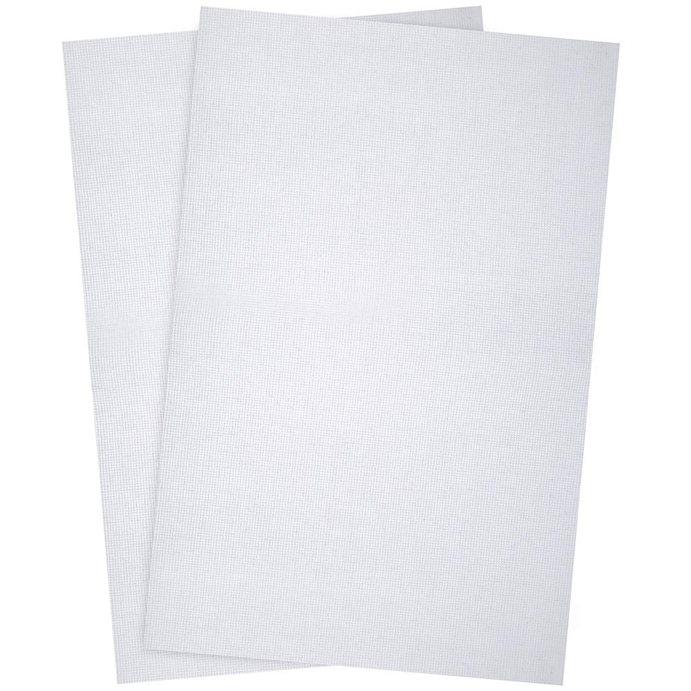 Pllieay 2 Pieces 18 Count White Classic Reserve Aida Cloth Cross Stitch Cloth, 12 by 18 Inch