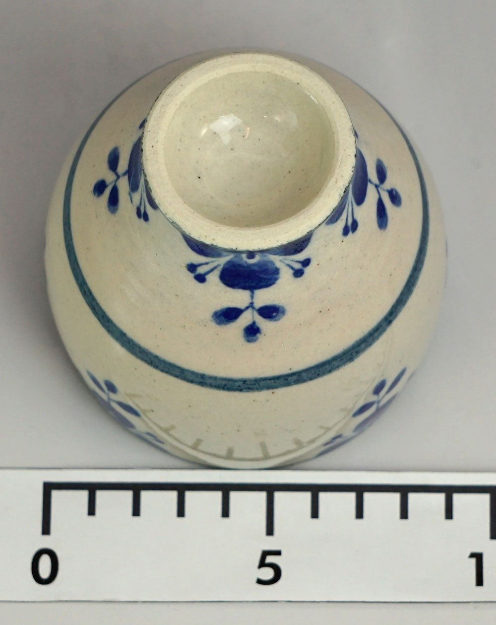 Mino ware Japanese Pottery Yunomi Chawan Tea/Wine Cup Rosemary Navy Blue made in Japan by T-Family (Image #3)