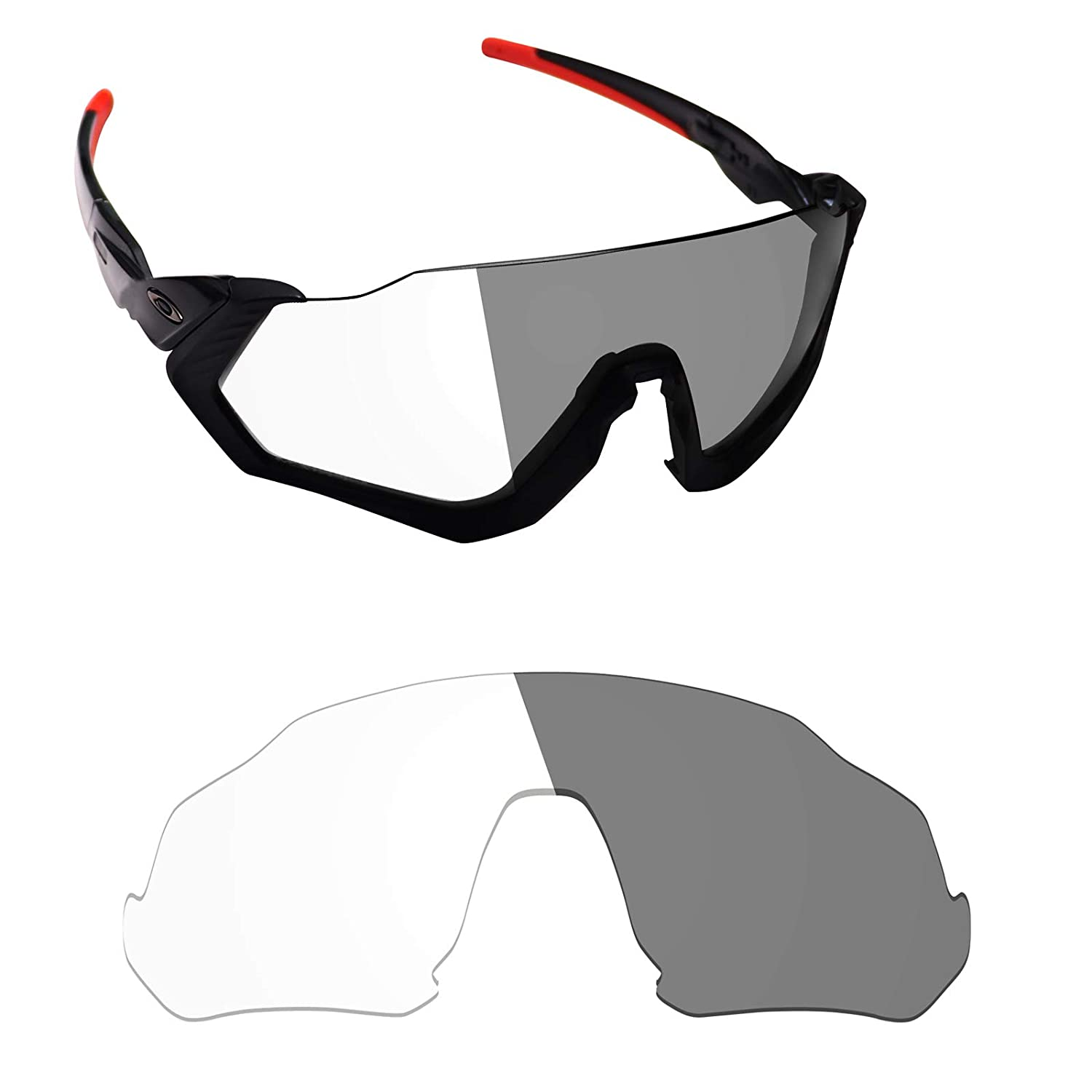 Alphax Polarized Replacement Lenses for Oakley Flight Jacket - Options