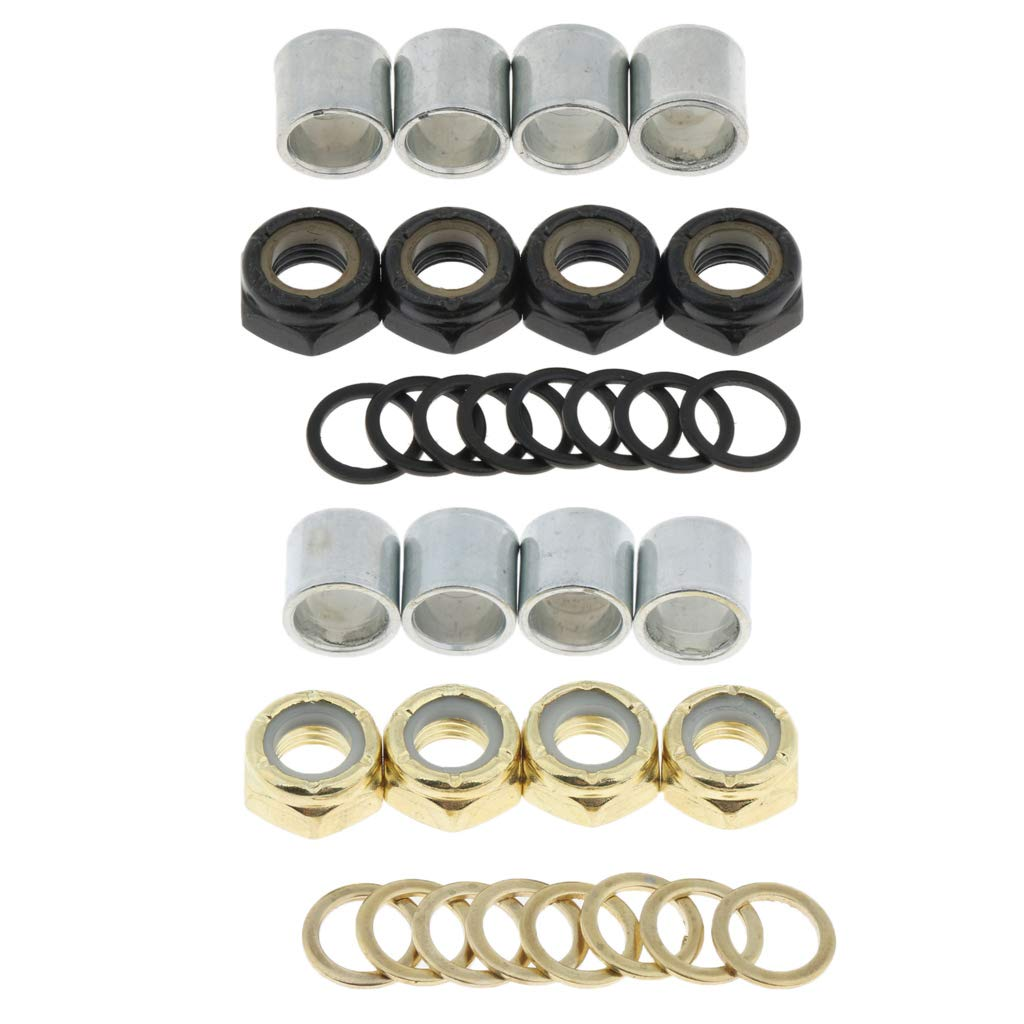 Baosity Skateboard Longboard Bearing Spacers Washers Speed Rings Nuts Replacement Kit Outdoor Sports Small Tools Hardware
