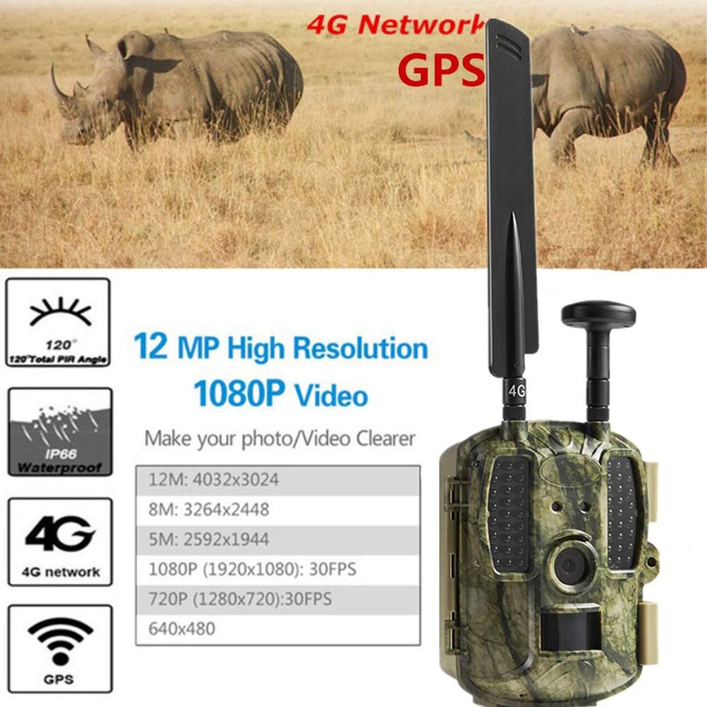 HCATNcame Trail Game Camera 12MP 1080P Full HD with Waterproof Clamshell Design No Glow Hunting Camera with Night Vision Motion Activated for Wildlife Watching