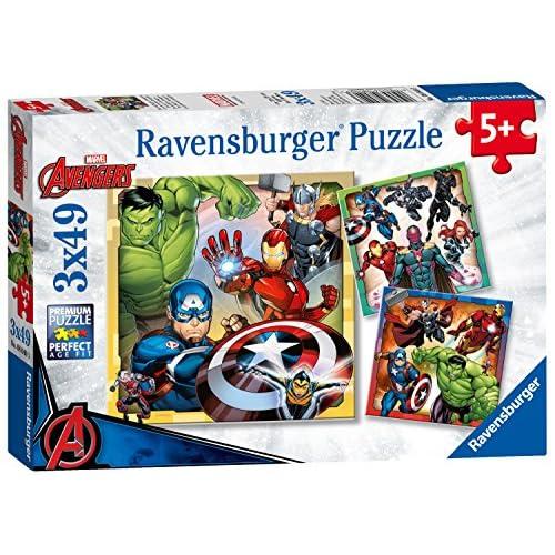 Ravensburger Marvel Avengers Assemble, 3x 49pièce Puzzles