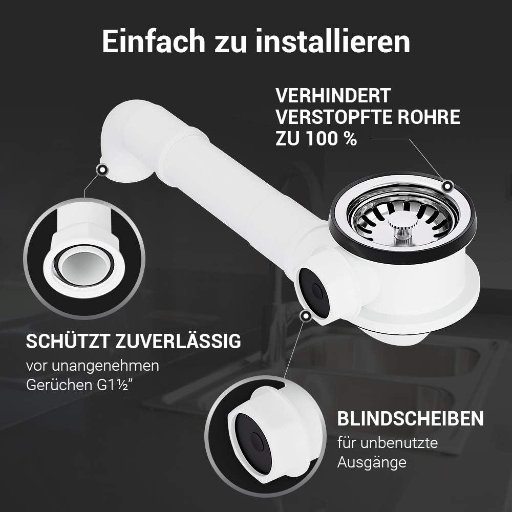 Bonde /à panier /Ø 70 mm avec raccord 1 pour trop-plein et cr/éateur.