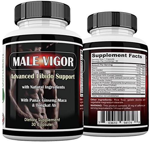 Male Vigor Natural Testosterone Supplements - Best Testosterone Pills - Testosterone Booster