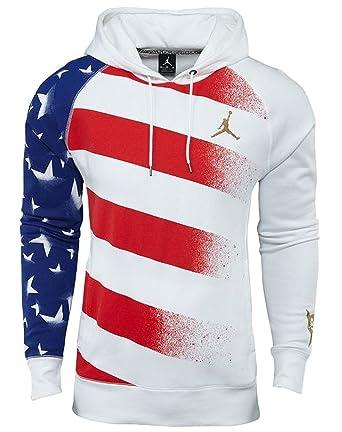 Jordan Nike AJ 7 VII Olympic Stars and Stripes Men s Hoodie (White Gold 8e7775cc4ec9