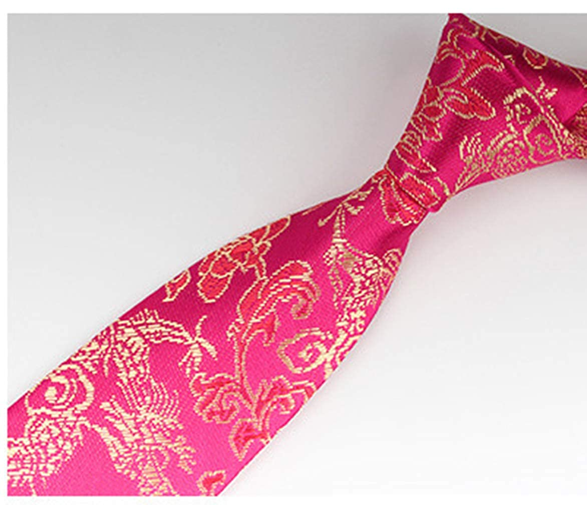 73551017e85a7 MENDENG Men Classic Gold Silk Dragon Burgundy Paisley Jacquard Woven Tie  Necktie at Amazon Men's Clothing store: