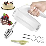 Hand Mixer Electric, Beaters and Whisk, 5-Speed Hand Mixer Electric with 4 Stainless Steel Accessories for Easy Whipping, Mix