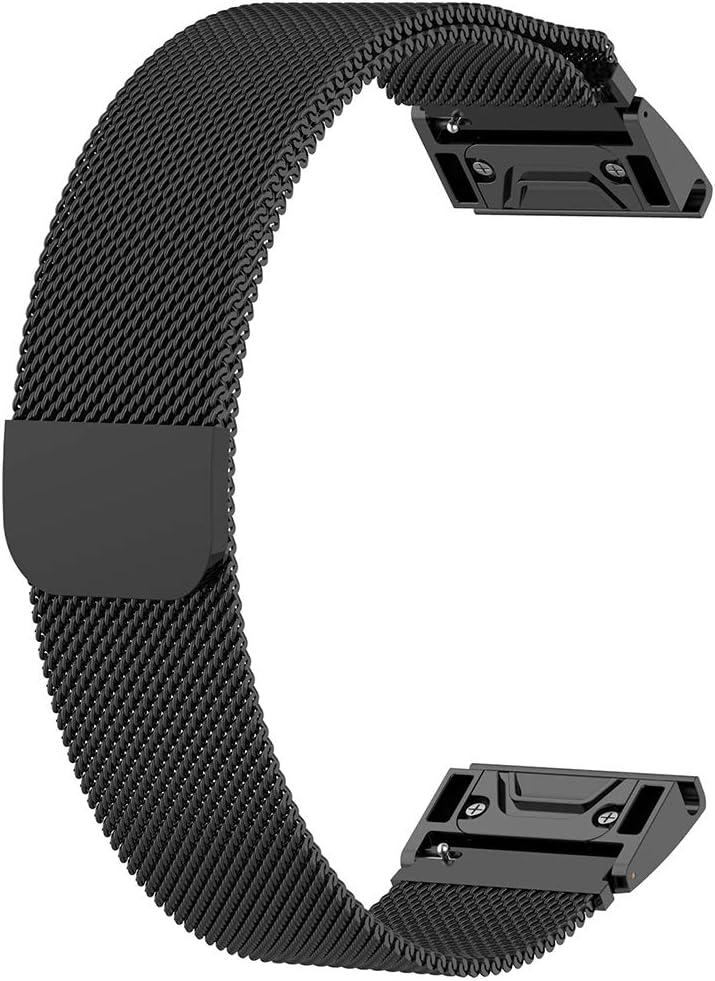 20 B FR-POPPYZ Bracelet de Montre en Acier Inoxydable /à lib/ération Rapide pour Fenix 6//6S//6X Kit
