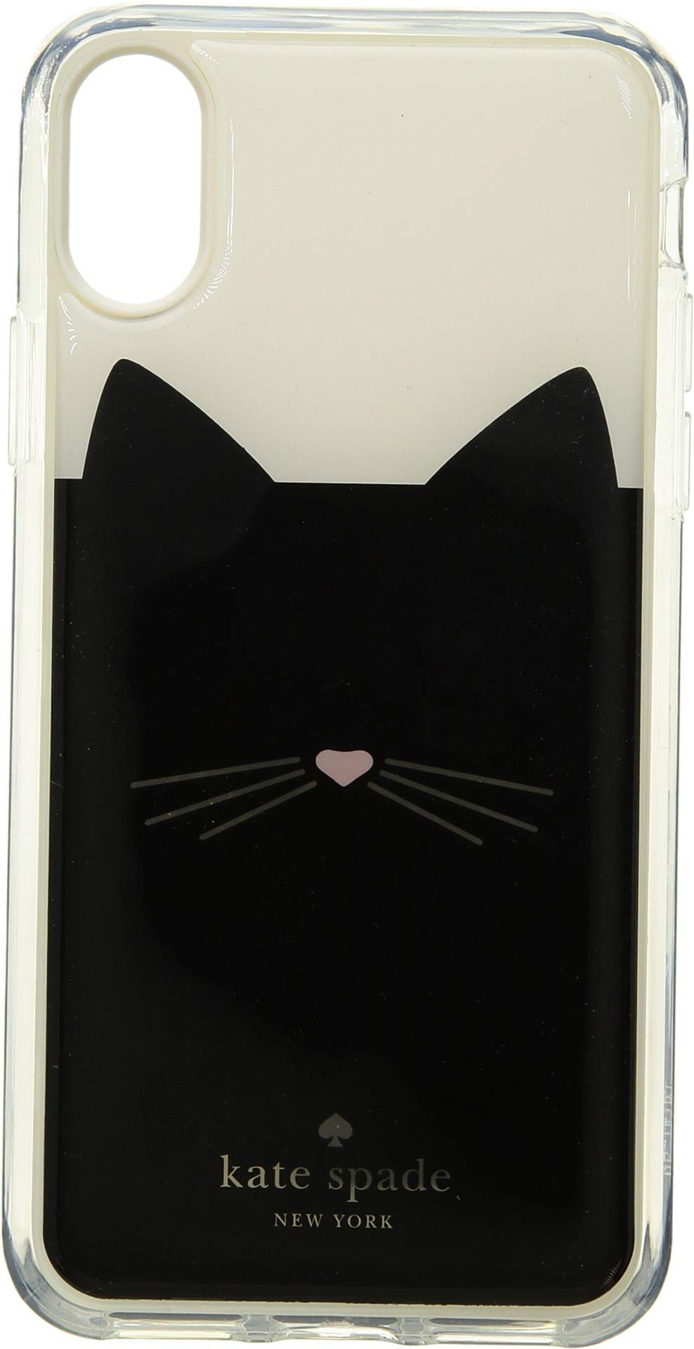 Kate Spade New York Women's Cat Hands Free Phone Case for iPhone X Black Multi One Size