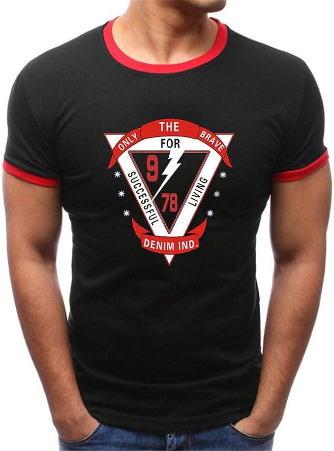 Kword Uomo T-Shirt Uomo,Kword Uomini Estate Tops Camicia A Maniche Corte da Uomo,Maglietta Stampata in Cotone Slim Fit Felpe Tops