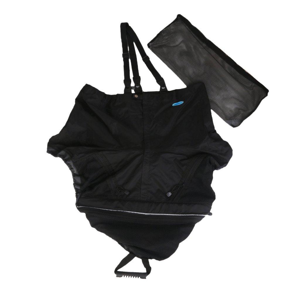 Universal Kayak Spray Skirt Deck Sprayskirt Black Generic