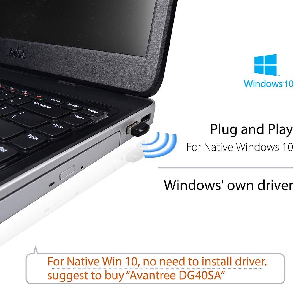 Avantree DG40S Bluetooth USB PC, Adaptador Dongle Bluetooth 4.0, con Tecnología BLE para Mando PS4, Mando Xbox One S, Auriculares, Altavoz, Teclado en ...