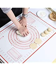 GWHOLE Large Silicone Baking Mat 60cm x 40cm Reusable Non Stick Dough Mat with Measurement for Pastry Rolling and Other Recipes & Desserts