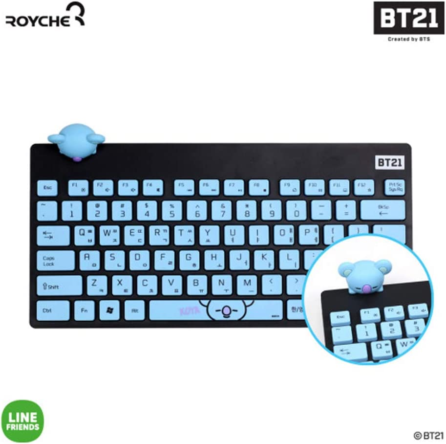 BT21 Figure Wireless Keyboard by Royche (Blue(Koya))