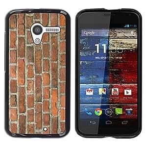 Stuss Case / Funda Carcasa protectora - Brick Wall Rustic Brown Orange Street Building - Motorola Moto X 1 1st GEN I XT1058 XT1053 XT1052 XT1056 XT1060 XT1055