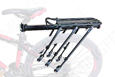 COMINGFIT Capacidad de 180 kg. Equipaje para Bicicletas Ajustable Portaequipajes, Estante para Maletas para Bicicletas súper Fuerte, Porta- Bicicletas con 6 piernas Fuertes: Amazon.es: Deportes y aire libre