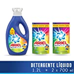 Ariel Ariel Revitacolor Detergente Líquido 1.2lts + 2 Refills De 700ml Con U, 2.6lts En Total, Pack of 1