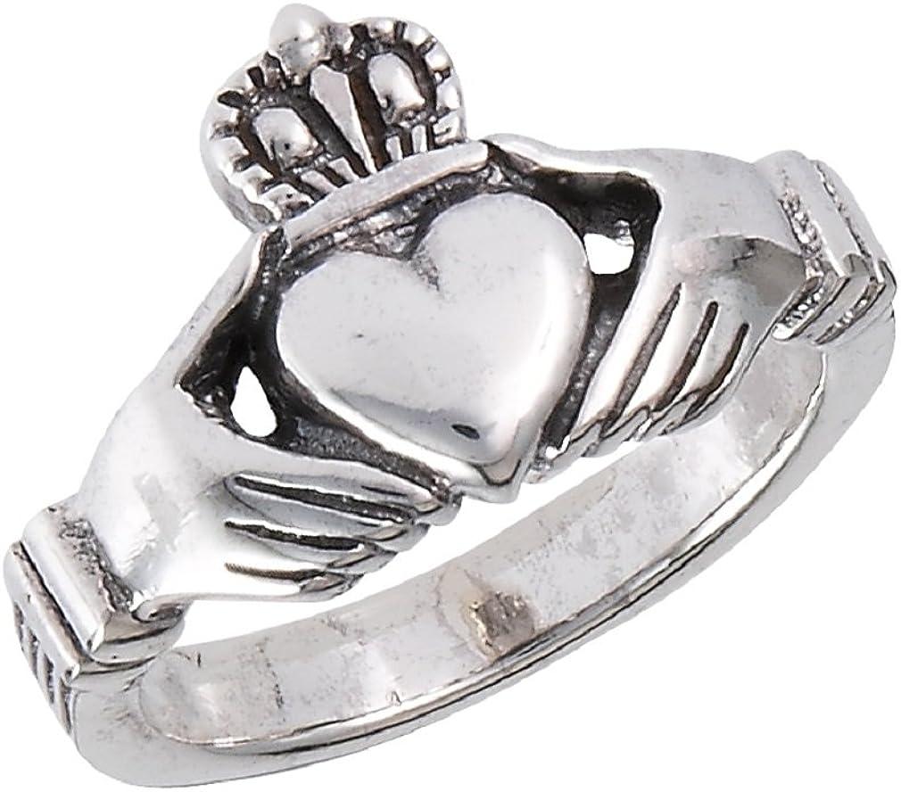 ON SALE Claddagh Sterling Ring Sz 10 Ireland Irish Men/'s Unisex 925 Silver Celtic Wedding Band Vintage Jewelry Birthday Anniversary Christma