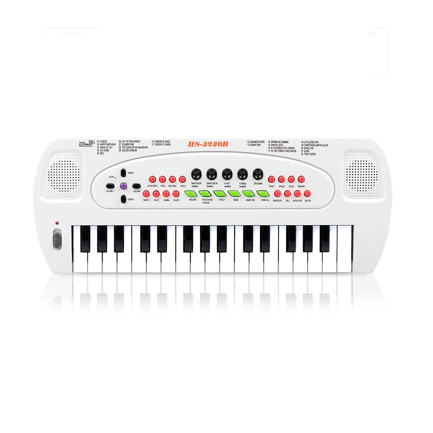 aPerfectLife 32 Keys Piano Keyboard for Kids Multifunction Portable Piano Electronic Keyboard Music Instrument for Kids Early Learning Educational Toy for 3-7 Year Old Girls Boys (White)