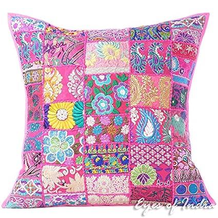 Eyes of India - 24 Big Patchwork Rosa Manta Colorido ...