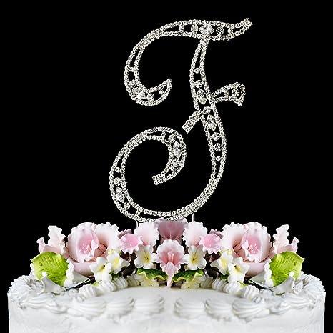 Delightful Vintage ~ Swarovski Crystal Wedding Cake Topper ~ Letter F