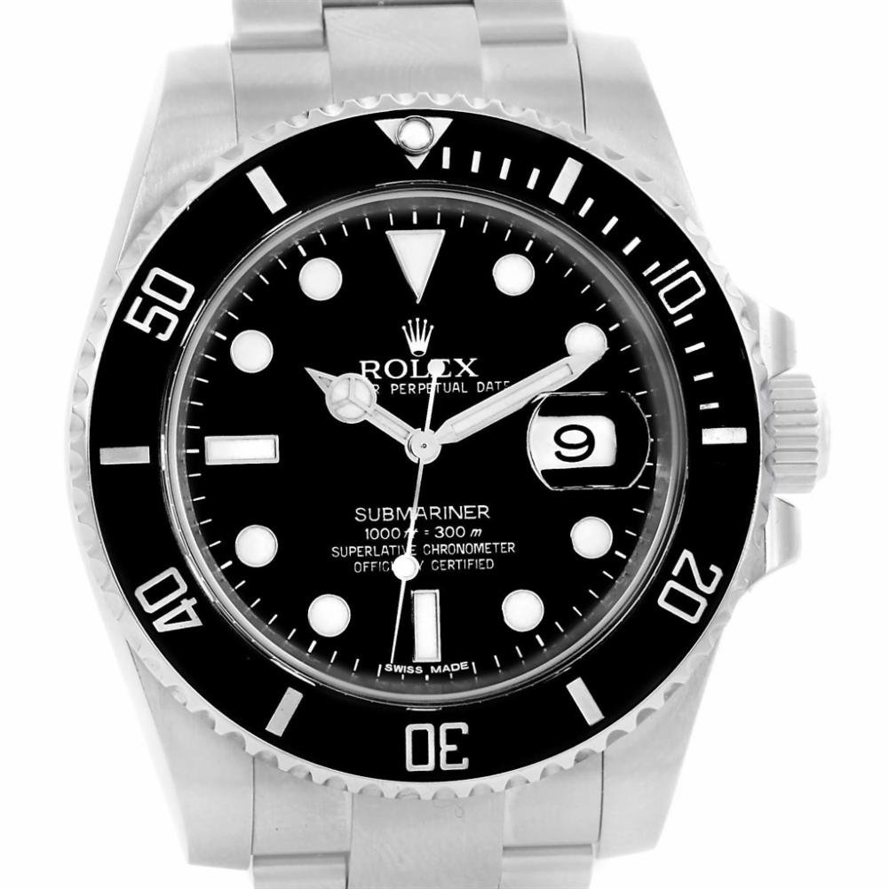 Rolex Submariner automatic-self-wind womens Watch 116610 (Certified Pre-owned)